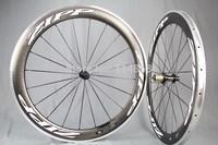 MIRACLE Bike 60mm Road Bike Carbon Wheelset Full Carbon Clincher Wheels+Alloy Brake Surface Fron+Rear Whleels