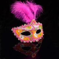 Christmas Mardi Gras Halloween Party Masks Feather Masquerade carnival mask Wholesale 12pcs/lot Z14T1C