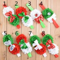 Free shipping , Baby Christmas Sequins Bow Chiffon flower headbands U Pick Colors