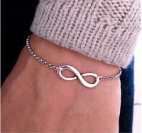 Min. order $10(Mix order) 2015 WOMENS Fashion Infinity bracelet Eight cross bracelets bangle jewelry Alloy bracelet !  Z&E2027
