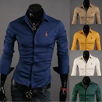 Free Shipping High Quality Fashion Best-selling  Every Man Size M-XXXXL Man 100% Cotton Shirts