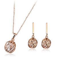 free shipping italina round zircon metal jewelry set