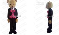 Hot sale 2014 Adult Wedding Dress Prince Wedding Teddy Bear Mascot Costume Christmas Costume