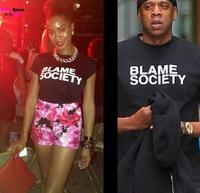 Jay Z Blame Society Print T-shirt Man Tee Shirts Eminem slim shady Cotton Short Sleeve T Shirt hiphop Clothing Street  Style