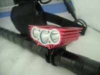 Free shipping 6000 Lumens 3x CREE XM-L U2 LED Cycling Bike Bicycle Light  HeadLight HeadlampSet & 8.4v 12000mAh Battery Pack