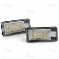 2 White 18 LED 3528 SMD Number License Plate Lights Lamp Bulb for AUDI A4 B6