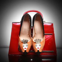 2014 new sexy fashion urban casual style tip shiny A unique characteristic mosaic diamond fashion shoes