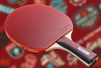 three stars good quality Table Tennis pingpang Racket Paddle straight or horizontal gripBat Blade Shakehand