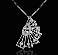 2014 New arrival,925 sterling silver crystal pendant necklace,high quality fashion jewelry N501