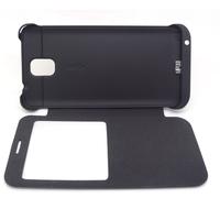 Free shipping 3800mAh External Backup Window Flip Battery Case for Samsung Galaxy Note3 N9000 -
