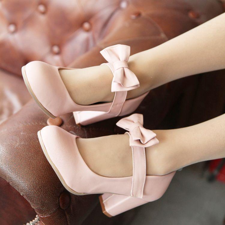 Bowknot Shoes Lolita Bowknot Shoes Plus
