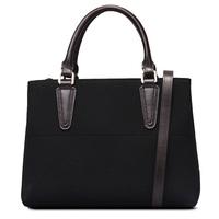 Genuine leather+suede women handbag women handbags woman shoulder tote bags free shipping match color leather handbag 2015 new