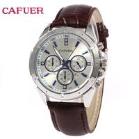 NEW CAFUER Brand Men Watch, Men Quartz Business Watch,Men Military Movement Calendar Leather Watch Free Shipping