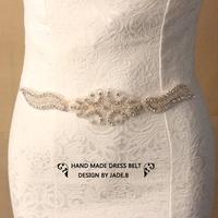 Min order $10 wedding belt Bridal Sash HANDMADE shinning rhinestone waistband bridal belt woman accessoires BW29