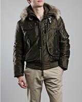 2014 100% Down jacket men GOBI 812 Real fur outerwear parkas Masterpiece new man short parka male winter Bomber boy puffer coat