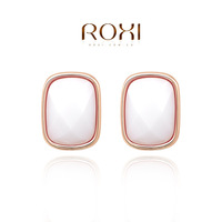 ROXI  Wholesale Rose Gold Plated Austrian crystal Stud Earring White rhinestone earrings fashion jewelry  2014103162