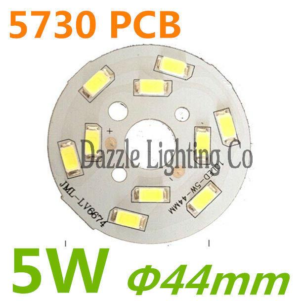 Free shipping 5W PCB led board 10pcs smd 5730 led 15-20V led bulb Round smd led module(China (Mainland))