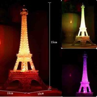 Colorful LED night light romantic ideas Eiffel Tower European Nightlight crafts creative Christmas birthday gift