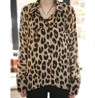 Blusas Femininas 2014 New Fashion Autumn Winter Explosion Models Leopard Blouse Women Blouse Sexy Glamor BL00320