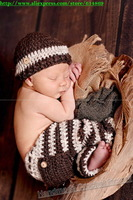 free shipping,stripe Baby Boy Hat and Pants baby sets, Crocheted newborn Photo Prop, 0 to 3 months,Newborn hat,baby Beanies caps