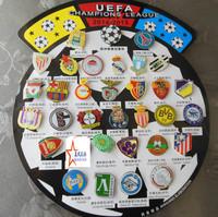 32 teams of 2013-2014 season's The UEFA Champions League badge world cup football badge brooch football souvenir 33 pcs
