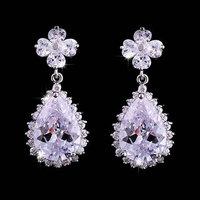Hot  Clover AAA CZ Earrings Fashion Woman Drops Earrings