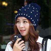 Free shipping European and American popular tide fashion winter set auger joker areata hat women's lovely joker knitted cap