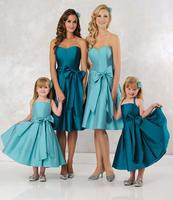 Simple Sweetheart A-line Satin Knee Length Bridesmaid Dress Vestidos De Madrinha 2014 HB282