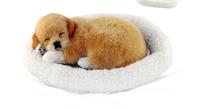 Simulation Pets Toys  Plush Dog Cat  Breathing Super Christmas Gift , Birthday gift,Kid And Baby Phantom Hobbies