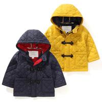 Retail high quality children's coat long sleeve winter outwear kids button clothes warm thicken hoodies LittleSpring GLS-S0001