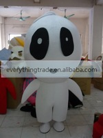 Hot sale 2014 Adult cute white monster mascot mascot costume fancy dress party costumes adult size