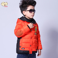 Autumn and Winter 2014 Child cotton-padded jacket male child short design baby outerwear children's clothing child clothing