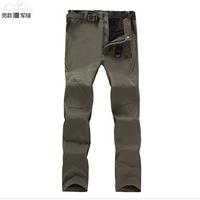 Factory wholesale cashmere soft shell pants warm waterproof outdoor Pants Slacks ski pants Taobao purchasing 4003