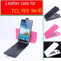 New Luxury Book Style Leather Case for Alcatel One Touch Hero 8020 8020D OT8020 TCL hero N3 Y910 With Screen Protector Free ship