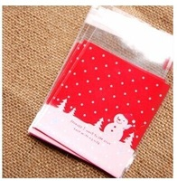 500PCs/LOT plastic Christmas Santa Claus bags gifts bag packaging Self-adhesive gift bags (include bag only) 10*11+4