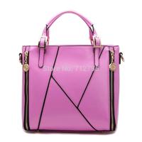 Handbag 2014 new bump color stripe Mosaic female bag oblique cross single shoulder bag