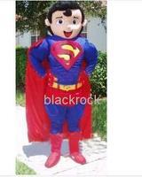 Hot sale 2014 Adult Super Hero Superhero Superman Mascot Costume Adult Fancy Dress Cartoon Party Outfits