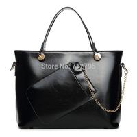 new 2014 lady handbag candy color bag elegant shoulder bag with pounch outside