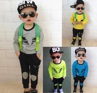 children's shampooers tracksuit boys long sleeve t shirt +pants girls baby jogging clothing sport set twinset sportswear