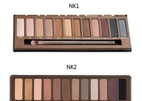 Free shipping make up set nk1 and nk 2 palette Eye shadow 12colour palette eyeshadow wholesale 2pcs/lot