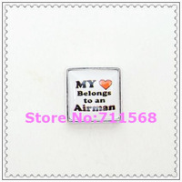 My Heart Belongs to An Airman Floating Charm Air Force Locket Charm For Glass Floating Locket Accessories