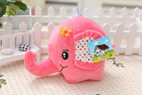 Elephant doll. Hight about 18cm. With a long bent nose. Pink body.  Best animal toys gift.  IDA0019