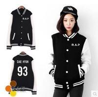 2014 new peripheral bap B.A.P rongguotuan same paragraph coat collar baseball uniform B.A.P hoodie kpop