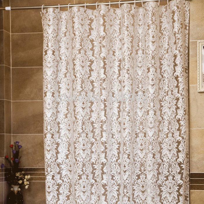 Cortinas De Baño Por Mayor:Elegant White Shower Curtains