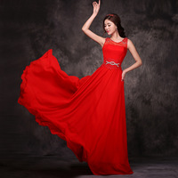 Red bridal dress evening dress fashion 2014 long design costume