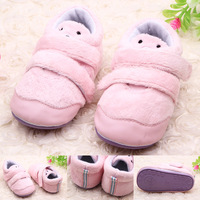 Free Shipping Fashion Winter Baby Shoes Rubber Sole Baby Warm Shoes #1079