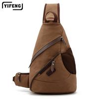 Men's chest-Pack men's canvas triangular bag boy drops baodan shoulder bag boy Korean Sport Messenger bag men,free shipping