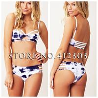 2014 blue life new swimsuit women brand swimwear cut-out inside pads sexy bikini swimwear manufacturers wholesale Free Shipping