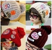 New Korea Fashion Baby Hat Knitted Winter Caps Beanies Children Boys Hats