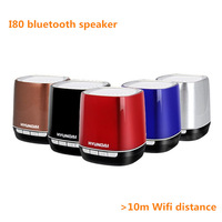 Hot selling I80 bluetooth speaker for HYUNDAI mini TF card reader for iPhone ipad iphone & Android wireless speaker